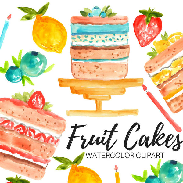 food fruit cake clipart