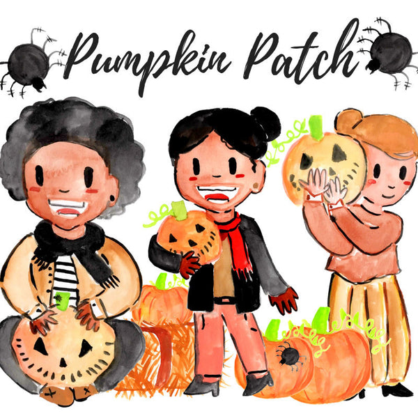Fall pumpkin patch clipart