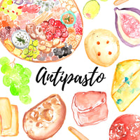Antipasto food clipart