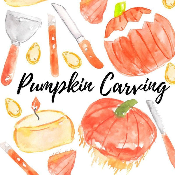 halloween pumpkin carving clipart