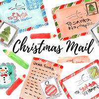 Christmas santa mail holiday clipart