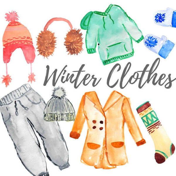 Winter clothes clip art