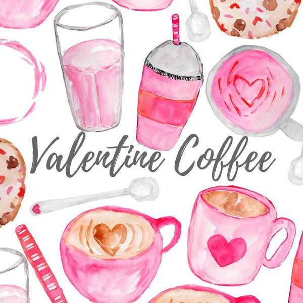 Valentines day Coffee clip art