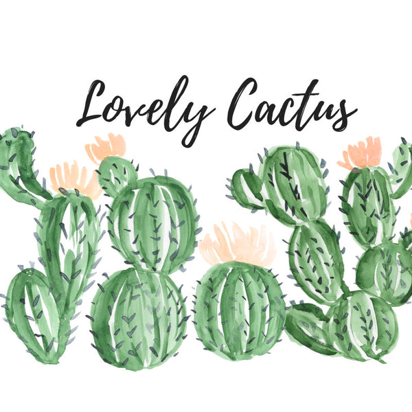 Lovely cactus clipart