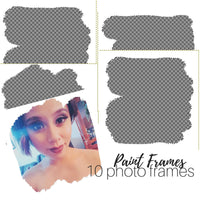 Abstract frame photo overlay