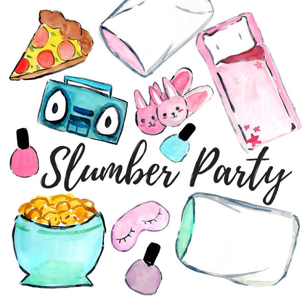 Slumber party clipart