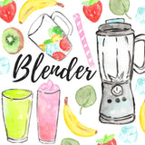 fruit blender beverage clipart