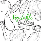 Vegetable outline clipart