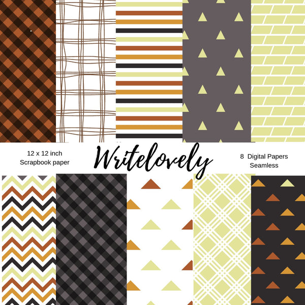 Seamless  Beige Fall scrapbook paper