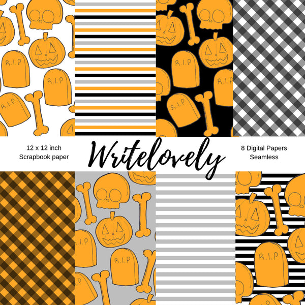 Seamless halloween digital paper