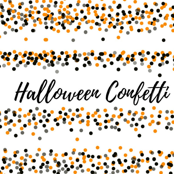 Halloween orange and black confetti border clip art