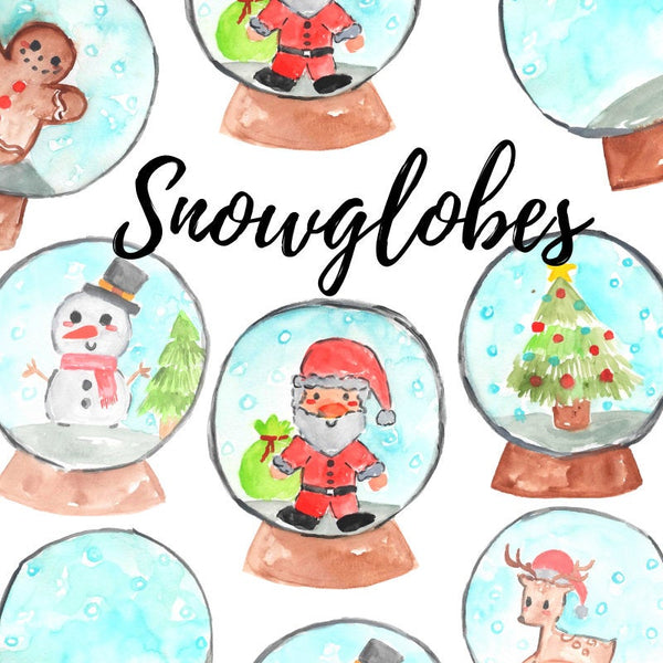 Christmas snowglobe holiday clipart