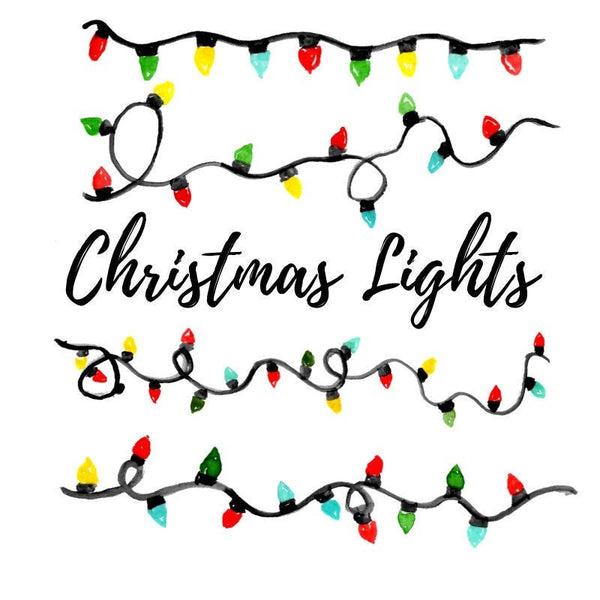 christmas light holiday clipart