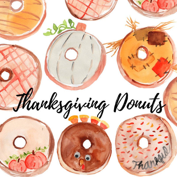 Thanksgiving donut clipart