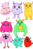 Monster Watercolor Clipart