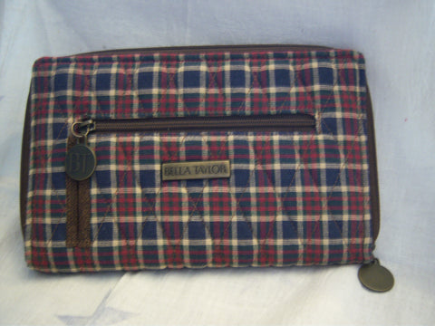 BELLA TAYLOR DOWNTON PLAID ZIP WALLET!