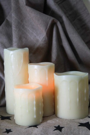 Timer Pillar Candles in 4 sizes