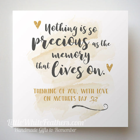 Mothers Day Nothing Is So Precious Quote Card