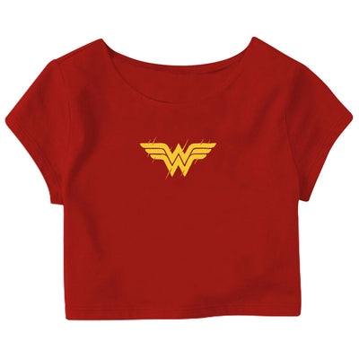 Wonder Women Logo Crop Top