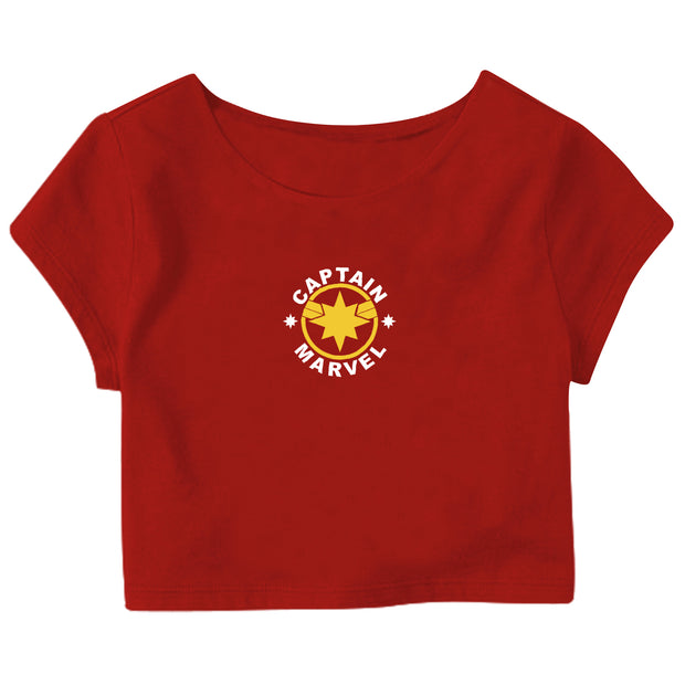 Captain Marvel Crop Top