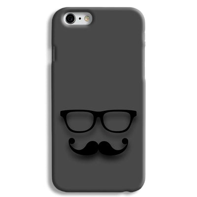 Cute mustache Gray iPhone 6 Case