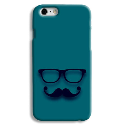 Cute mustache Blue iPhone 6 Case