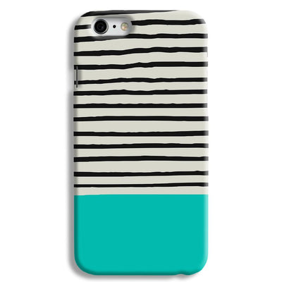 Aqua Stripes iPhone 6 Case