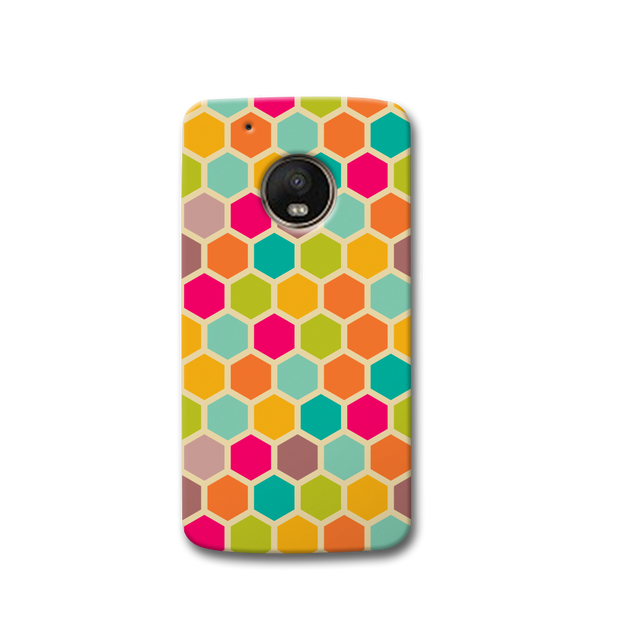 Hexagon Color Pattern Moto G5s Case