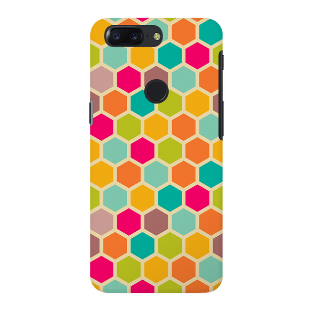 Hexagon Color Pattern OnePlus 5T Case