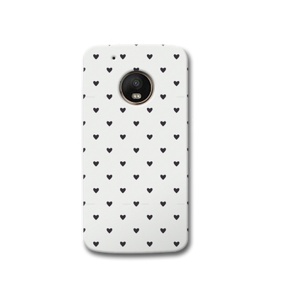 Black Heart Pattern Moto G5s Case