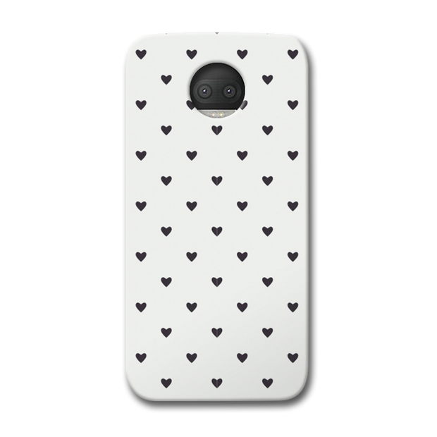 Black Heart Pattern Moto G5s Plus Case