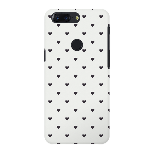 Black Heart Pattern OnePlus 5T Case