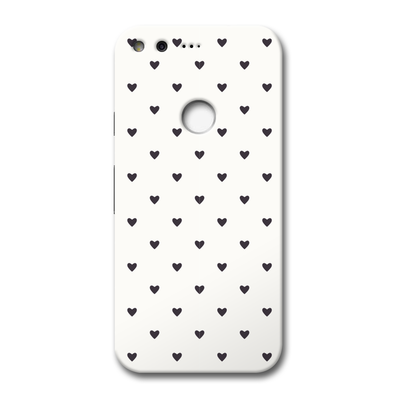 Black Heart Pattern Google Pixel Case