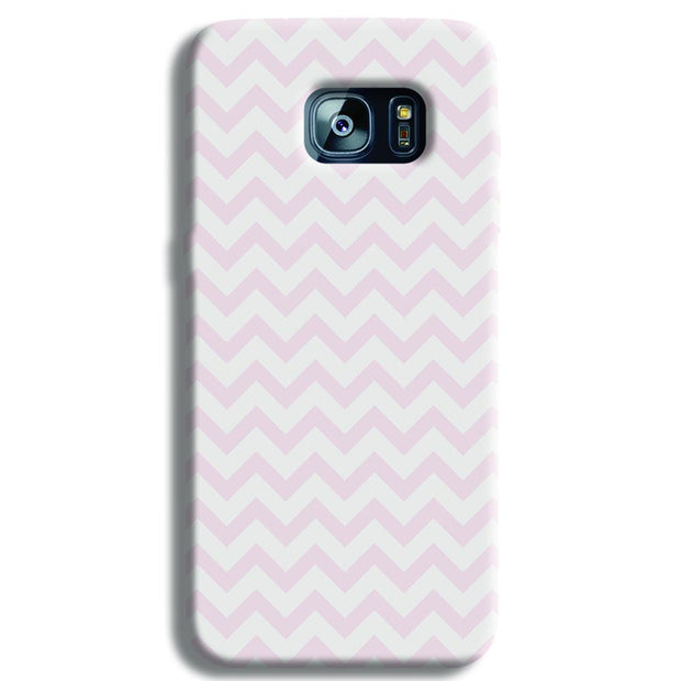 Light Pink Chevron Pattern Samsung S7 Edge Case