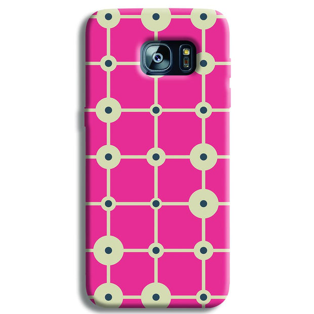 Pink & White Abstract Design Samsung S7 Edge Case