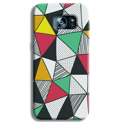 Triangle Abstract Pattern Samsung S7 Edge Case