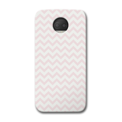 Light Pink Chevron Pattern Moto G5s Plus Case