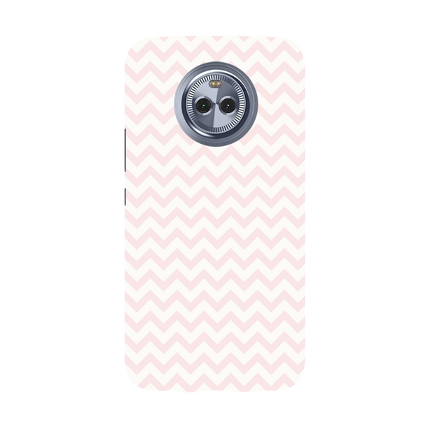 Light Pink Chevron Pattern Moto X4 Case