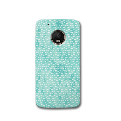 Wavy Blue Pattern Moto G5s Case