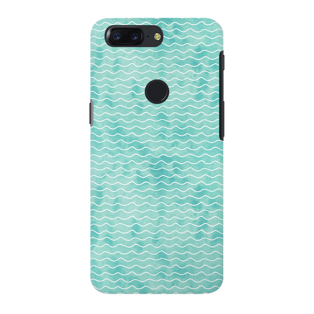 Wavy Blue Pattern OnePlus 5T Case