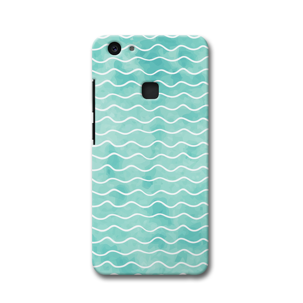 Wavy Blue Pattern Vivo V7 Plus Case