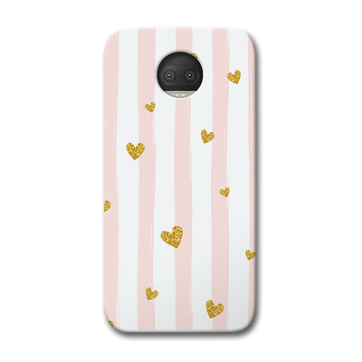 Cute Heart Pattern Moto G5s Plus Case