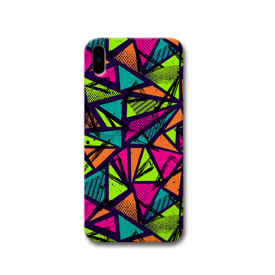 Geometric Color Pattern Apple iPhone X Case