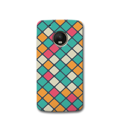 Colorful Tiles Pattern Moto G5s Case