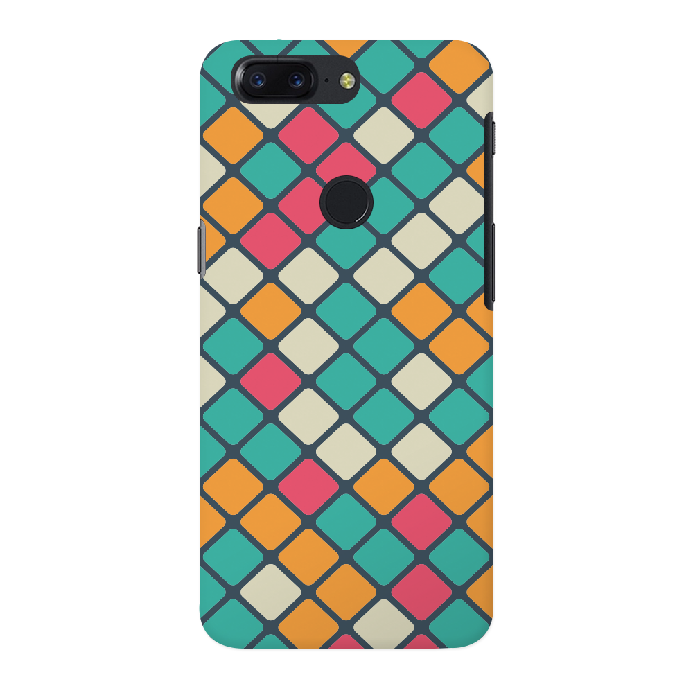 Colorful Tiles Pattern OnePlus 5T Case