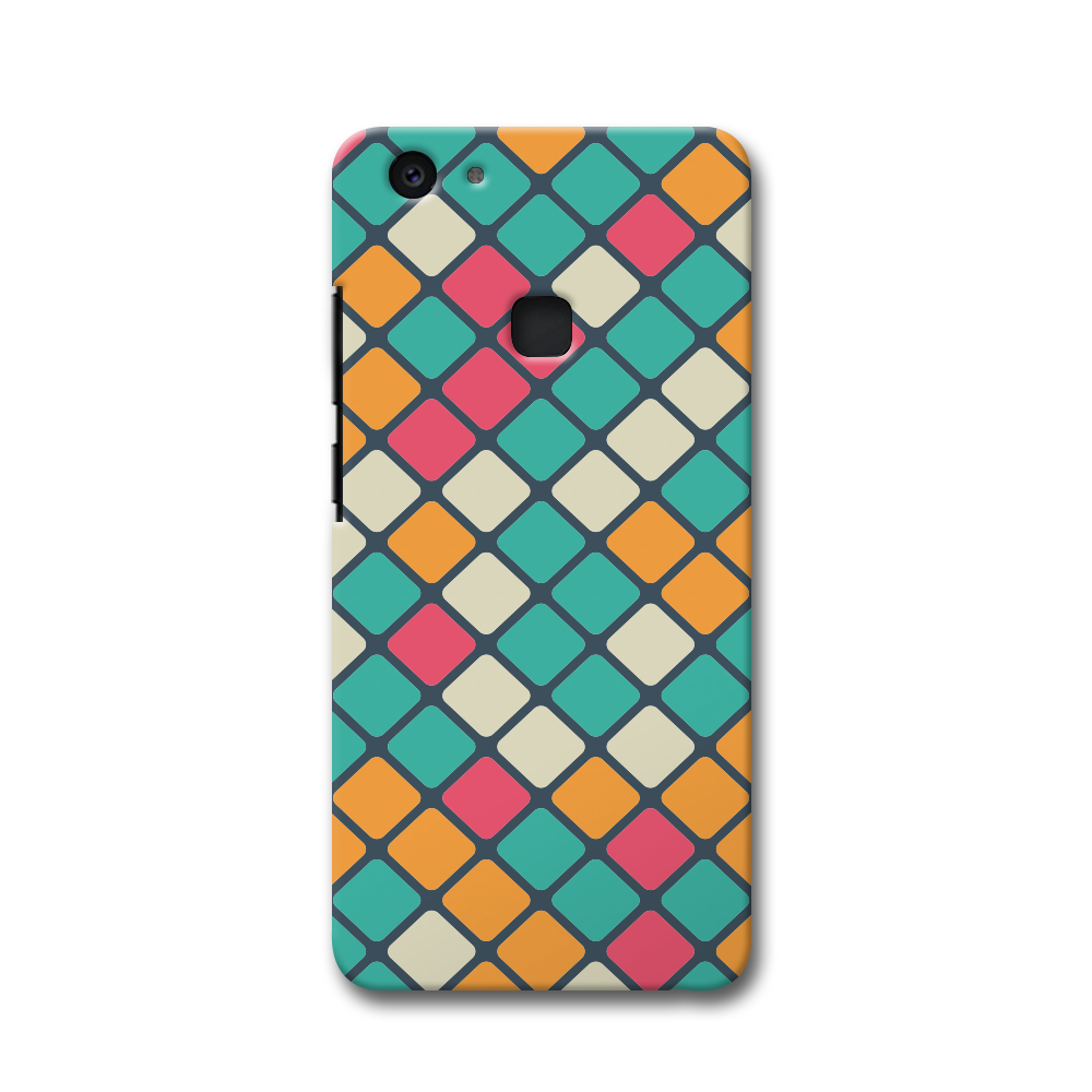 Colorful Tiles Pattern Vivo V7 Plus Case