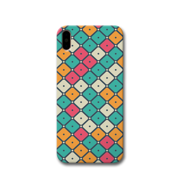 Colorful Tiles with Dot Apple iPhone X Case