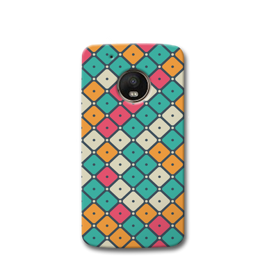 Colorful Tiles with Dot Moto G5s Case