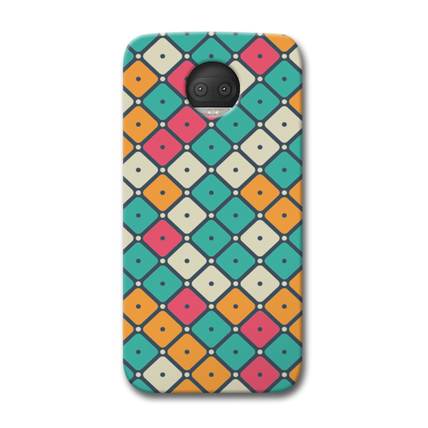 Colorful Tiles with Dot Moto G5s Plus Case
