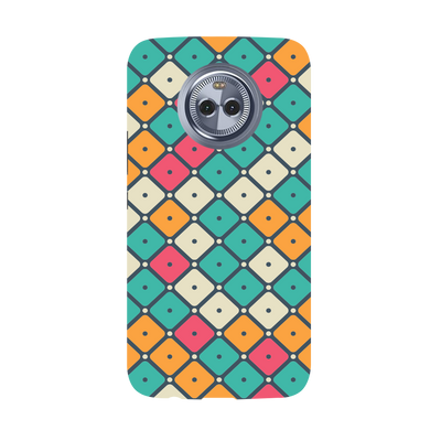 Colorful Tiles with Dot Moto X4 Case